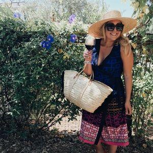 [Trina Turk] Sleeveless Printed Wrap Dress